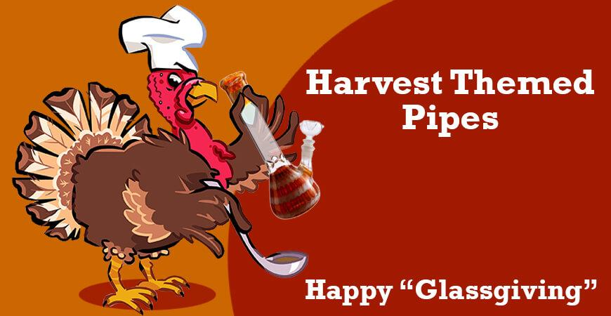 """Happy """"Glassgiving"""": Harvest Themed Pipes"""