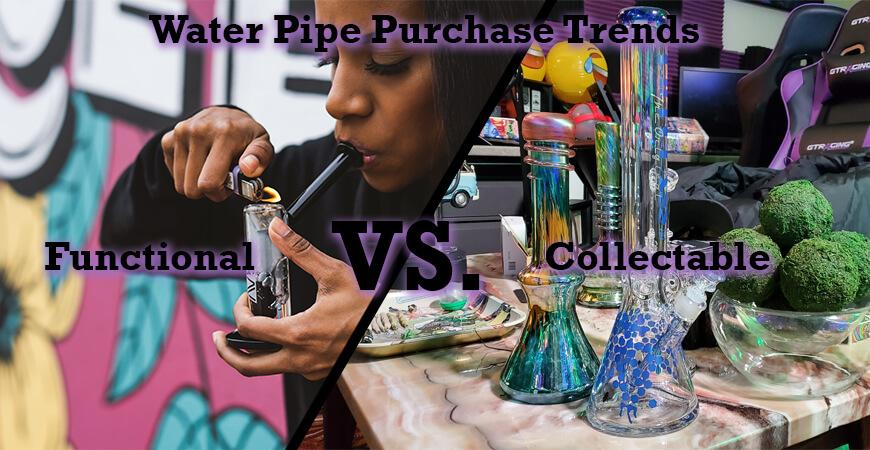 Water Pipe Purchase Trends: Functional vs. Collectable
